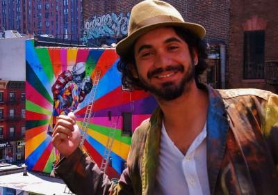 Artista brasileiro Eduardo Kobra cria painel gigante de Bob Dylan nos Estados Unidos 3