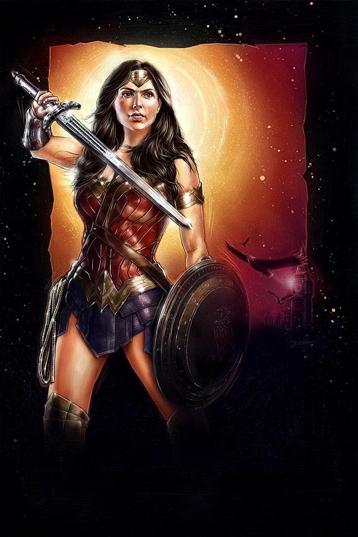 Novo logo, foto e arte do filme da Mulher Maravilha 1