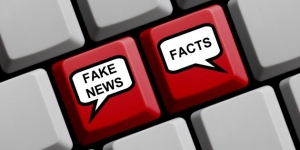Computer Keyboard with balloons Fake or News Facts 1