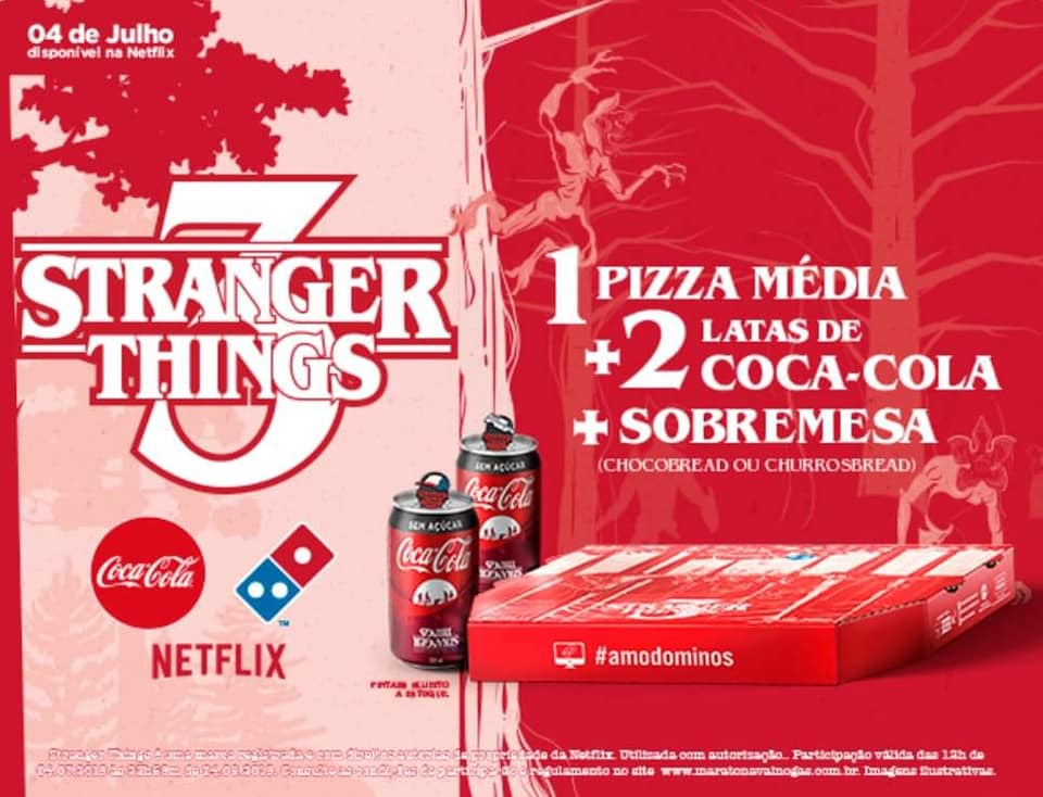 Domino's Pizza, Coca-Cola e Netflix criam combo temático Stranger Things 3 5