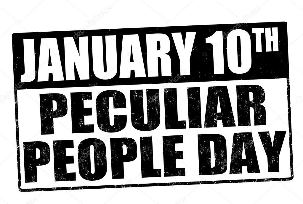 Hoje se comemora o Dia das Pessoas Peculiares (Peculiar People Day) 3