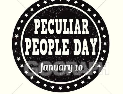 Hoje se comemora o Dia das Pessoas Peculiares (Peculiar People Day)
