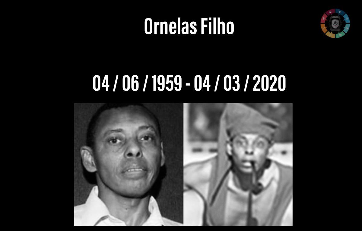 Ator Ornelas Filho, de 61 anos, morreu em hospital no Rio de Janeiro 1