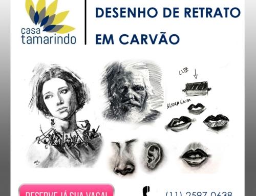 A Casa Tamarindo de Arte e Cultura promove aulas de Desenho de Retrato em Carvão com Marcelo H Santana