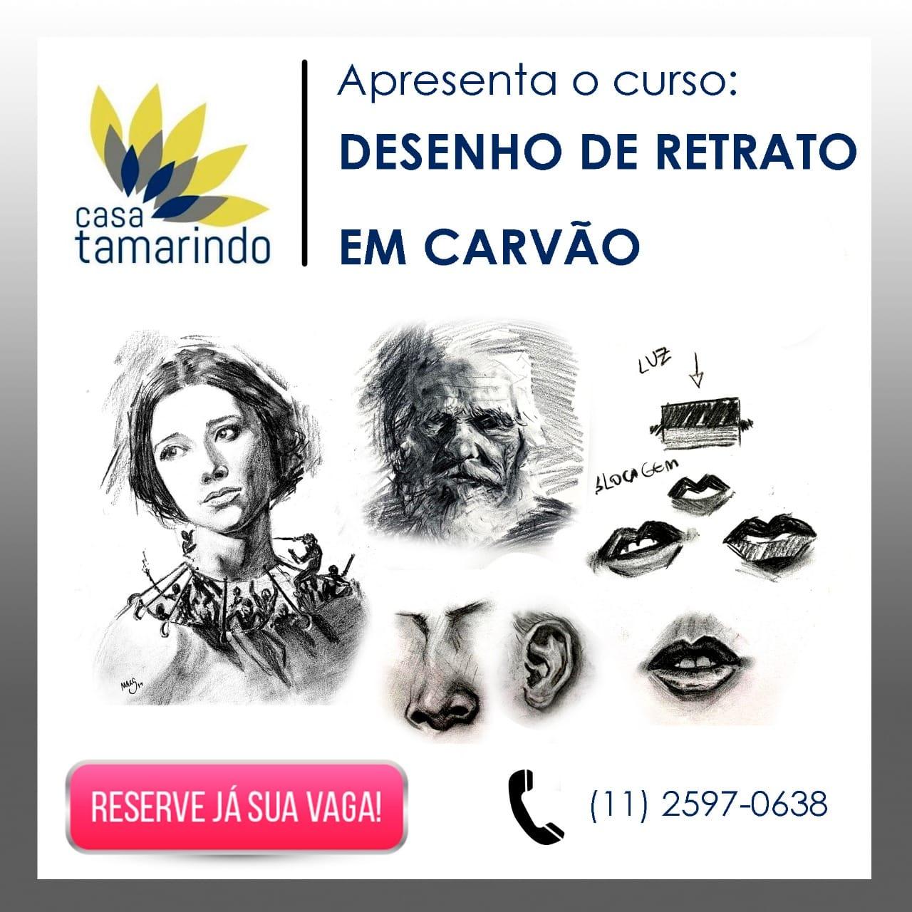 A Casa Tamarindo de Arte e Cultura promove aulas de Desenho de Retrato em Carvão com Marcelo H Santana 6