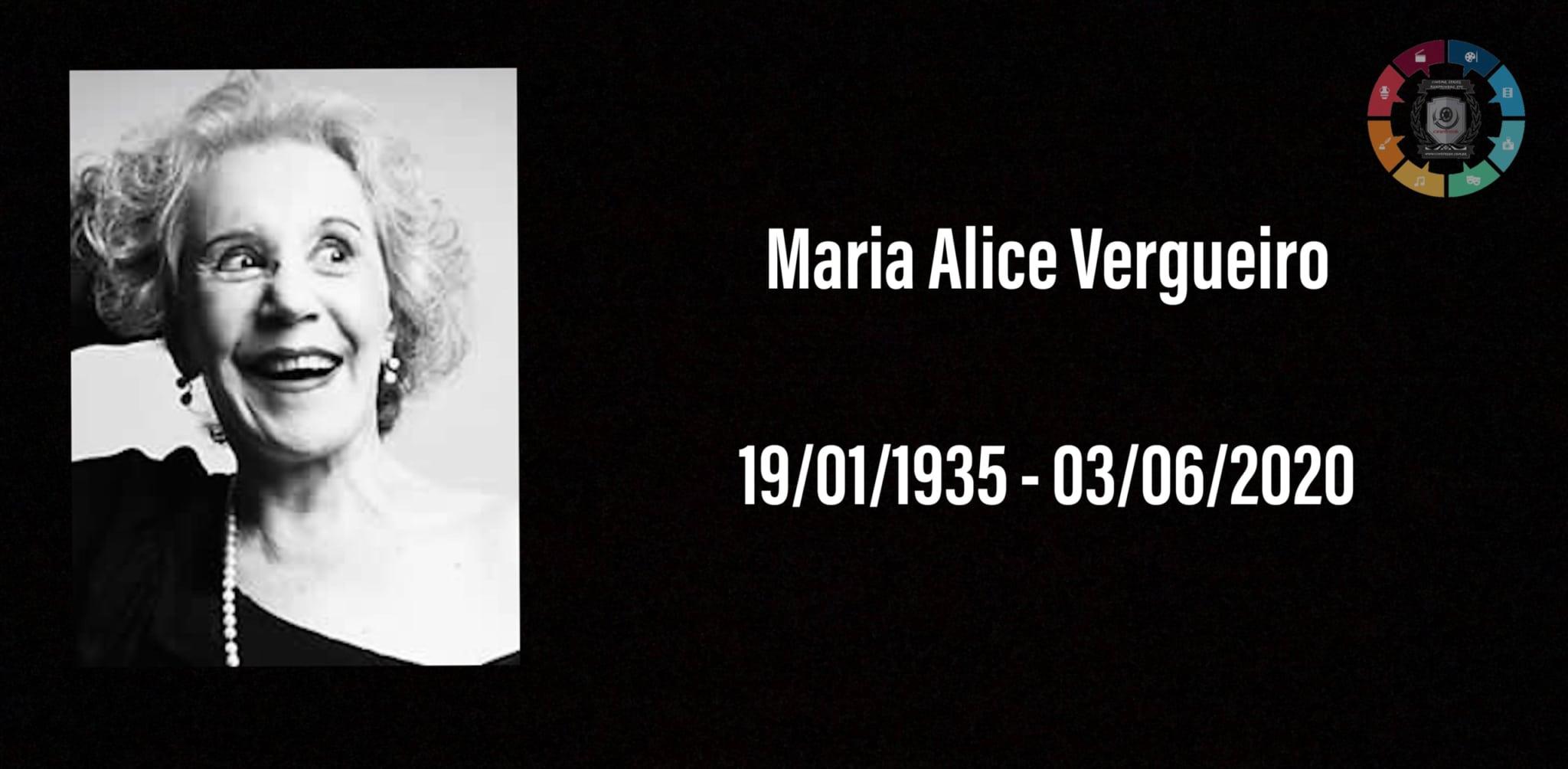 Atriz Maria Alice Vergueiro morre aos 85 anos 1