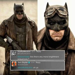 """Zack Snyder confirma presença maior do """"Batman Knightmare"""" no SnyderCut da """"Liga da Justiça"""""""
