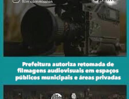 Prefeitura autoriza retomada de filmagens audiovisuais em espaços públicos municipais e áreas privadas