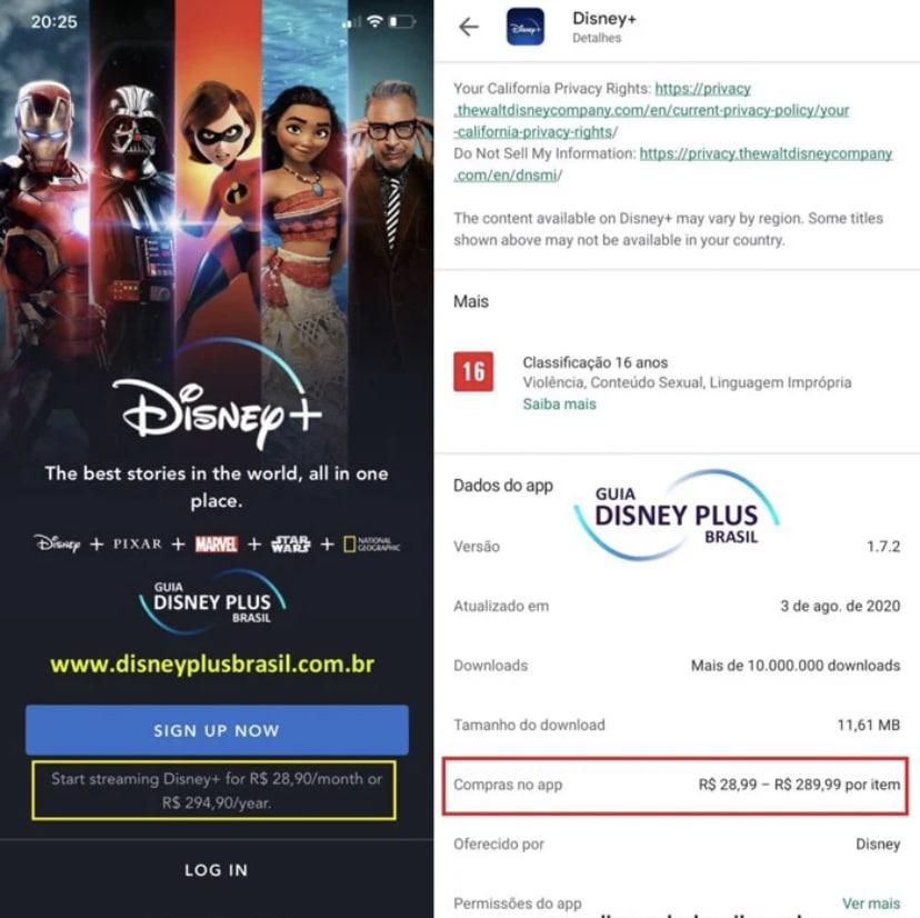 Preço do canal Disney+ no Brasil pode ter sido revelado 3