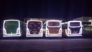 Natal: Ônibus iluminados começam a circular na cidade de SP 9