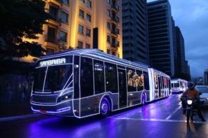 Natal: Ônibus iluminados começam a circular na cidade de SP 7