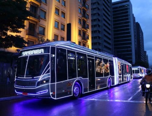 Natal: Ônibus iluminados começam a circular na cidade de SP