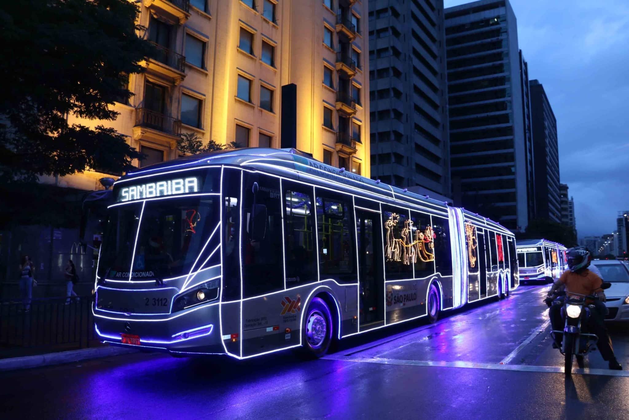 Natal: Ônibus iluminados começam a circular na cidade de SP 6
