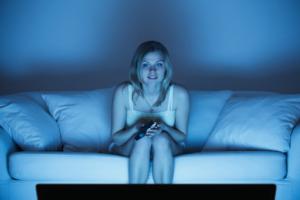 Woman Watching TV 1