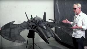 """Modelo original restaurado do Batwing usado no filme """"Batman"""" de Tim Burton 3"""